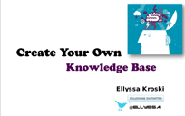 How to Create Your Own Knowledge Base